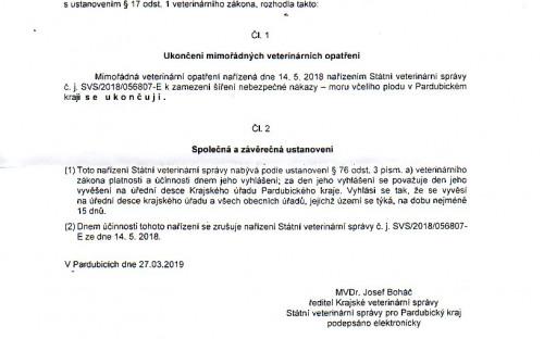 Nařízení SVS/2019/0238522-E